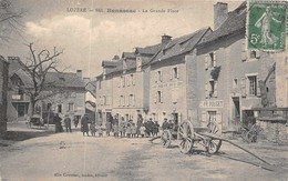 BANASSAC  - ( Lozere ) -  La Grande Place Animée - France