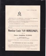 TONGRES TONGEREN Louis VAN ORMELINGEN Veuf DUBOIS Notaire Notaris 1839-1918 Famille VROONEN - Décès