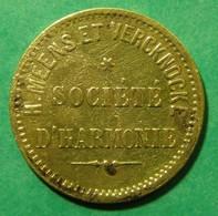H. Meens Et Vercknocke - Société D'Harmonie - 25 Centimes - Monétaires / De Nécessité