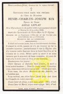 DP Henri Ch. Six ° Wijtschate Heuvelland 1865 † Watou Poperinge 1930 X Adèle Leplat - Images Religieuses