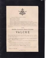 FURNES COMINES Clotilde VALCKE 1835-1894 Famille WYSEUR - Décès