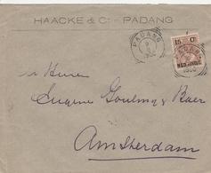 Indes Neerlandaises Lettre Padang Pour La Hollande 1900 - Indes Néerlandaises