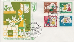 BRD GERMANY BERLIN 1965 FDC MI  266-269  FAIRY TALES MÄRCHEN CONTES DE FÉES GRIMM FABLES - Fairy Tales, Popular Stories & Legends