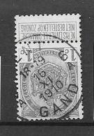 83 Gand 6A  1910  Type T4R - 1893-1907 Wappen