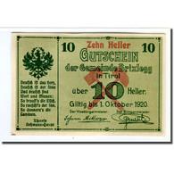 Billet, Autriche, Brixlegg, 10 Heller, Paysage, 1920, SPL, Mehl:104c - Autriche