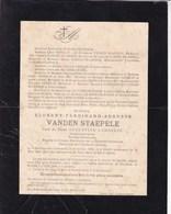BERCHEM-LEZ-AUDENAERDE Florent VANDEN STAEPELE Veuf LAMBELIN Notaris Conseiller Provincial 1825-1899 - Décès
