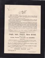 TURNHOUT Joseph Louis NUYENS époux Van DOOREN Industriel 1872-1931 - Décès
