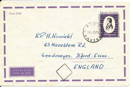 Poland Postal Stationery Cover Sent To England Warszawa 19-10-1971 - Stamped Stationery