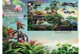 HUNGARY - 2018. FDC S/S -  The Bakony Dinosaurs / Prehistoric Animals MNH!!! - FDC