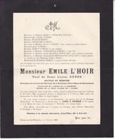 JURBISE BONSECOURS Emile L'HOIR Veuf DUBUS  Médecin Président Conseil De Fabrique Notre-Dame De Bonsecours 1844-1928 - Décès