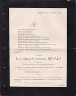 LAMALLE BAS-OHA Louis-Joseph DEVAUX Avocat Président Fabrique D'église 79 Ans 1896 Familles LEMAIRE BOSERET LOUMAYE - Décès