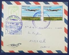1988 Cover, Asunción Paraguay - Vitrolles France - Paraguay