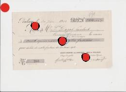POULSEUR Carrières De Grès 1912  Vers Pierre Dozot Entrepreneur à Cerexhe Heuseux - Lettres De Change