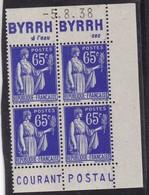 PUBLICITE: TYPE PAIX 65C BLEU 2 BANDES BYRRH-à L'eau-sec/COURANT POSTAL NEUFS**ACCP956-1003 957-1004 C36E - Advertising