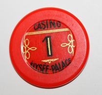 "Jeton De 1 Franc ""Casino Elysée-Palace"" Vichy - Casino French Chip Token - Casino"