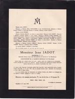 AARSCHOT BRUXELLES Ghislain LAMBERT Intendant Militaire 1834-1899 Famille CLUYSENAAR HYMANS FONTAINE - Décès
