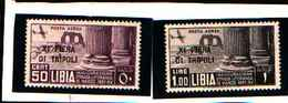 90302) LIBIA- 11ª Fiera Di Tripoli - POSTA AEREA - 24 Aprile 1937-MNH** - Libya