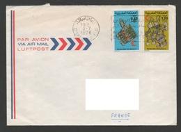 MAROC 1976   N° 750 & 751 -  Bijoux  Croissant Rouge   Sur Enveloppe Vers La France - Maroc (1956-...)