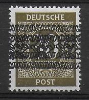 Deutschland Amerikanische Und Britische Zone 63I DD Doppelte Bandaufdruck Double Overprint Fehler Error - Zone Anglo-Américaine