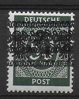 Deutschland Amerikanische Und Britische Zone 66I DD Doppelte Bandaufdruck Double Overprint Fehler Error - Zone Anglo-Américaine