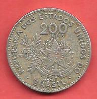 200 Reis , BRESIL , Cupro-Nickel , 1901 , N° KM # 504 - Brésil
