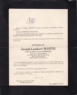 FLOING Ardennes Joseph-Lambert MAFFEI Veuf WESMAEL Colonel Retraité Ancien Commandant Ecole Militaire 1841-1927 PONCIN - Décès