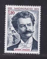 MONACO N° 1042 ** MNH Neuf Sans Charnière, TB (D8217) Johann II Strauss 1975 - Monaco