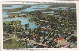 Florida Tarpon Springs Aerial View Curteich - Etats-Unis