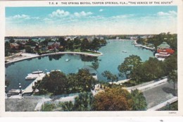 Florida Tarpon Springs The Spring Bayou Curteich - Etats-Unis