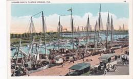 Florida Tarpon Springs Sponge Boats At Dock - Etats-Unis