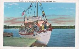 Florida Tarpon Springs Sponge Boat Ready For A Sponging Trip - Etats-Unis