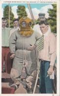 Florida Tarpon Springs A Sponge Diver Ready For The Descent 1932 - Etats-Unis
