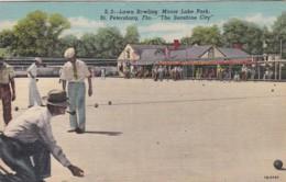 Florida St Petersburg Lawn Bowling Mirror Lake Park Curteich - St Petersburg