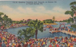 Florida Tarpon Springs Epiphany Ceremony Held Annualy On January 6th Curteich - Etats-Unis