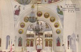 Florida Tarpon Springs St Nicholas Greek Orthodox Church Interior Curteich - Etats-Unis