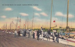 Florida Tarpon Springs The Sponge Boats And Wharf - Etats-Unis