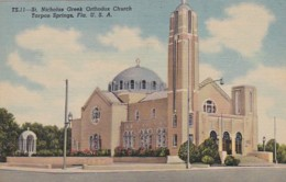 Florida Tarpon Springs St Nicholas Greek Orthodox Church Curteich - Etats-Unis