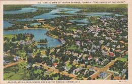 Florida Tarpon Springs Aerial View 1938 Curteich - Etats-Unis