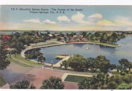 Florida Tarpon Springs Beautiful Spring Bayou 1946 Curteich - Etats-Unis