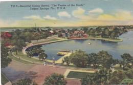 Florida Tarpon Springs Aerial View Spring Bayou 1951 Curteich - Etats-Unis