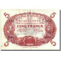 Guadeloupe, 5 Francs, Undated (1934-1943), TTB+, KM:7b - Autres