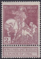 Belgie  .    OBP    .    89      .     *    .      Ongebruikt  .   /   .  Neuf  Avec  Charniere - 1910-1911 Caritas