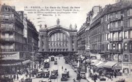 75 - PARIS  - La Gare Du Nord - Vue De Face - Métro Parisien, Gares