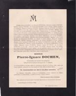 GRAND-HALLET Pierre-Ignace DOCHEN époux DEWONCK 1825-1900 Familles DUPONT FAVART DELANGE Etc - Décès