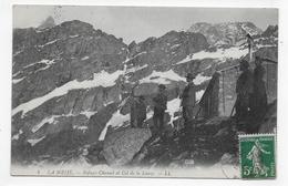 (RECTO / VERSO) LA MEIJE EN 1912 - N° 4 - REFUGE ET COL DE LA LAUZE AVEC PERSONNAGES - BEAU CACHET - CPA VOYAGEE - Otros Municipios