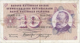 Suíza - Switzerland 10 Francs 26-10-1961 Pick 45g Ref 2 - Suiza