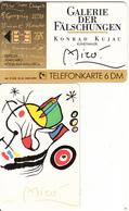 GERMANY(chip) - Galerie Der Fälschungen, Joan Miro/Vogel Auf Mallorca(O 290), Tirage 3000, 10/93, Mint - O-Series : Séries Client