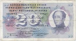 Suíza - Switzerland 20 Francs 20-10-1955 Pick 46c Ref 3 - Suisse