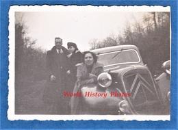 Photo Ancienne Snapshot - DEAUVILLE - Belle Automobile CITROEN Traction Avec Protection ? - 1939 - Auto - Automobiles