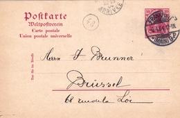 Postkarte Frankfurt Am Main 1904 Deutschland Bruxelles Belgique Entier Postal - Allemagne